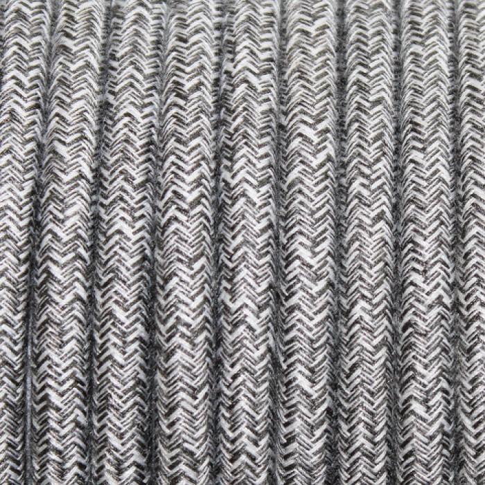 1Провод декоративный круглый светло-серый 2*0,5