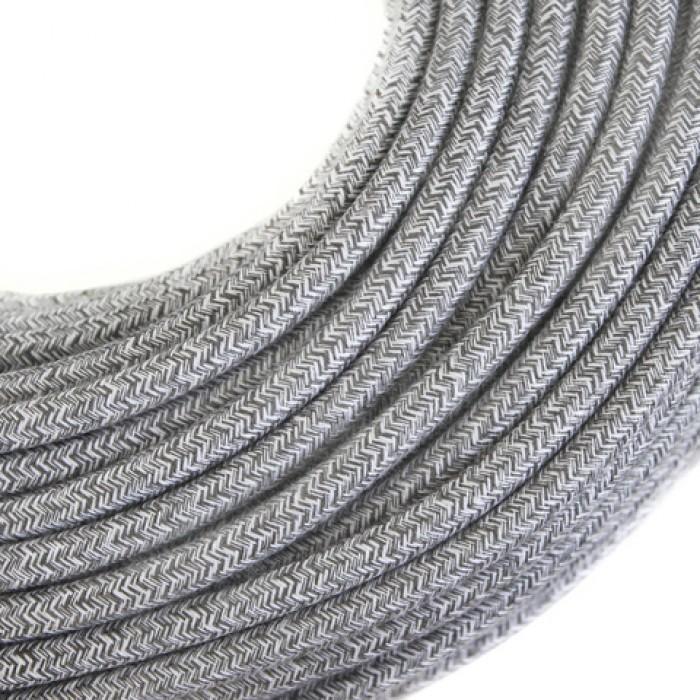 2Провод декоративный круглый светло-серый 2*0,5