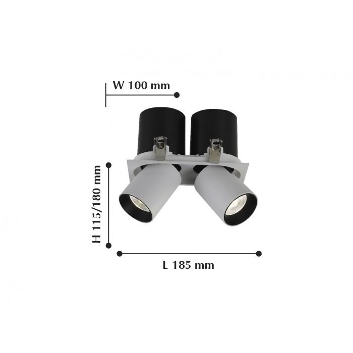 2Встраиваемый светодиодный светильник 2226-2U Finis FAVOURITE