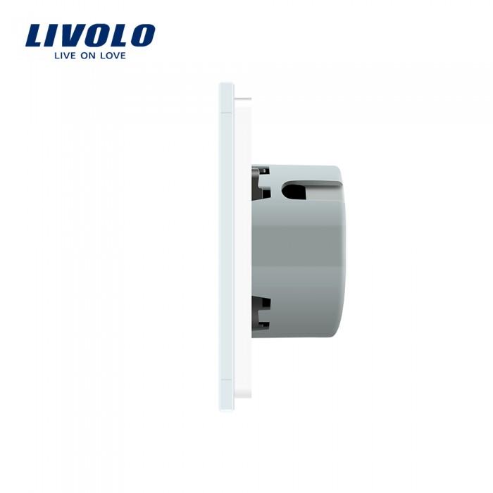 2Сенсорный Выключатель Livolo с панелью золотой