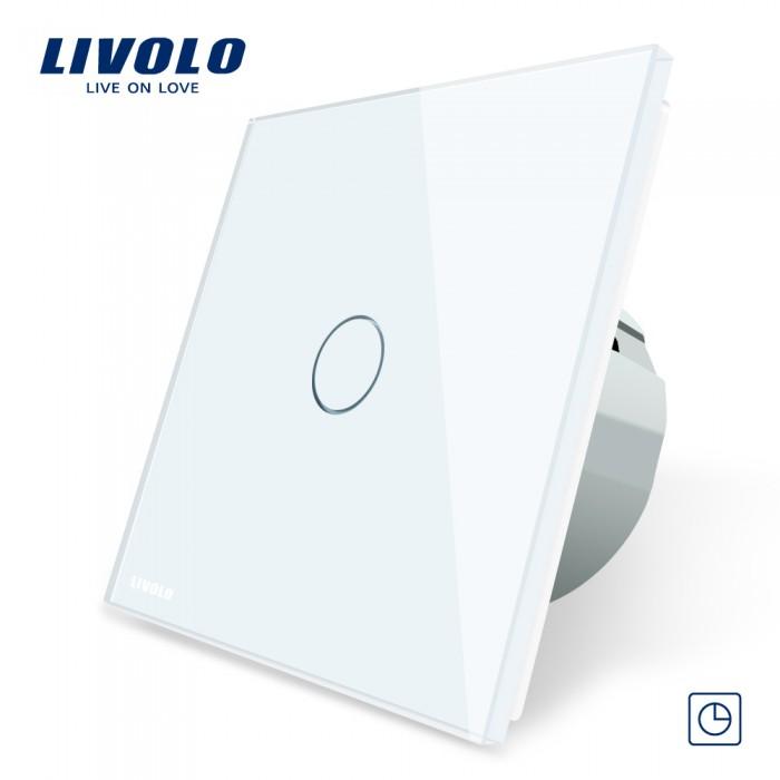 1Сенсорный Выключатель Livolo на 1 линию с панелью белый