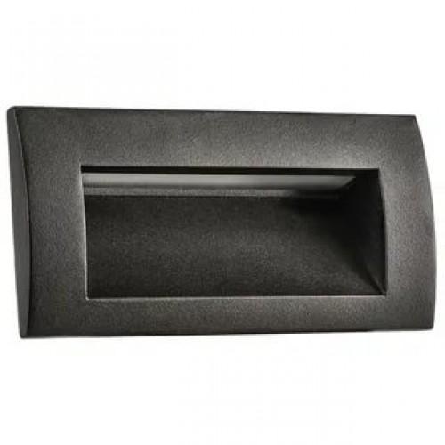 383572 Встраиваемый уличный светильник Lightstar черный