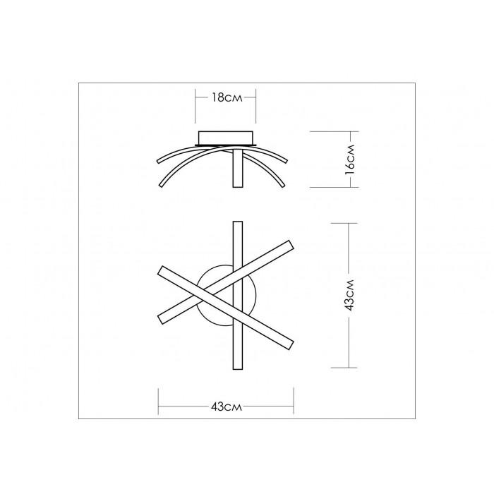 2Потолочный светодиодный светильник TLAR3-51-07 Лючера