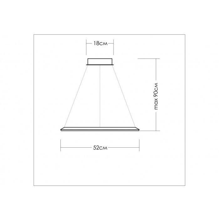 2Подвесной светодиодный светильник со стороной квадрата 52 см TLCU1-52-01 Лючера