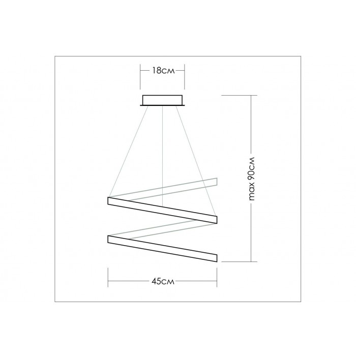 2Подвесная светодиодная люстра TLES1-45-01 Лючера