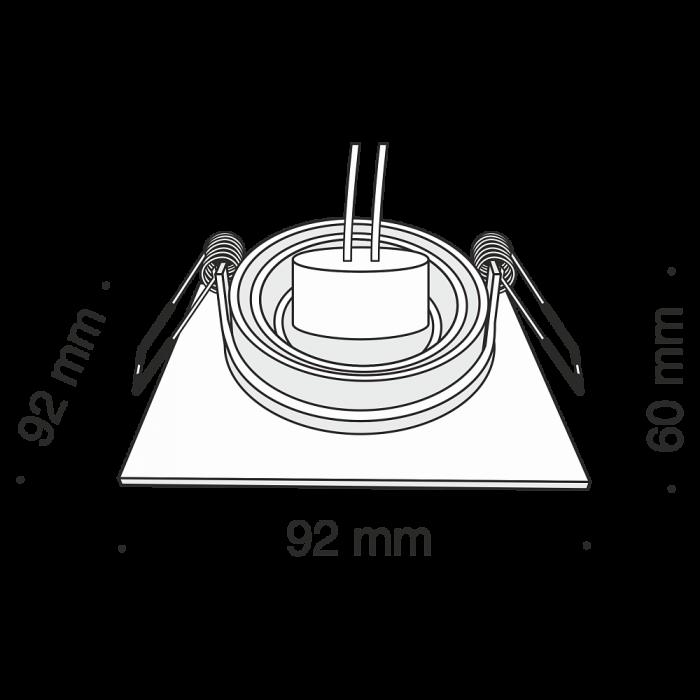 2Встраиваемый светильник Atom DL024-2-01B