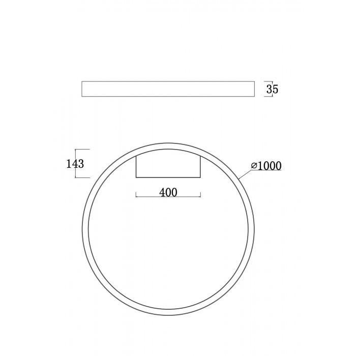 2MOD058CL-L65W4K Потолочный светильник RIM Maytoni