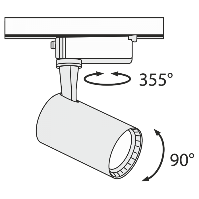 2Трековый светильник светодиодный TR003-1-6W4K-B Maytoni