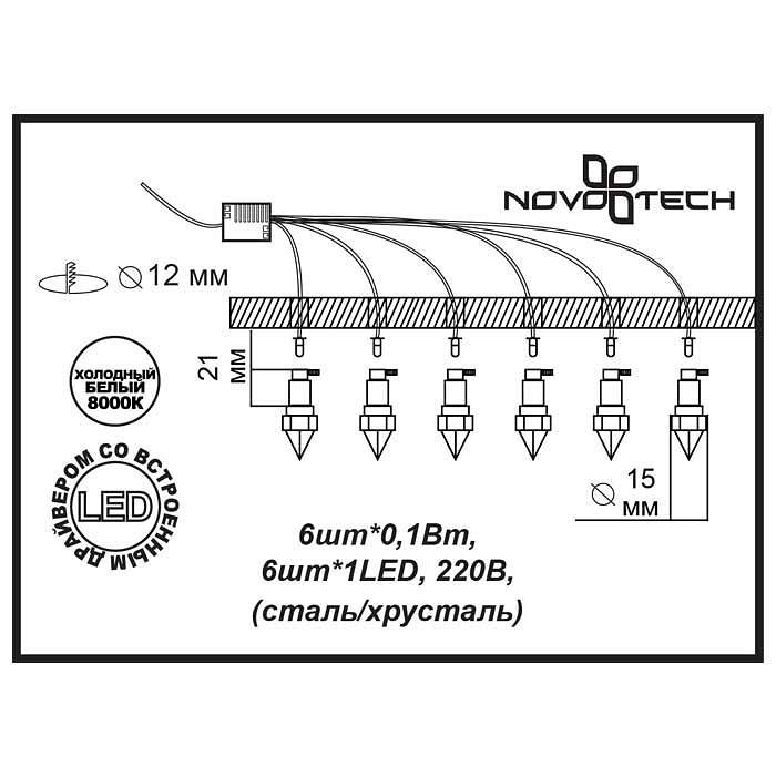 2357020 Star Sky Novotech - светодиодные встраиваемые светильники