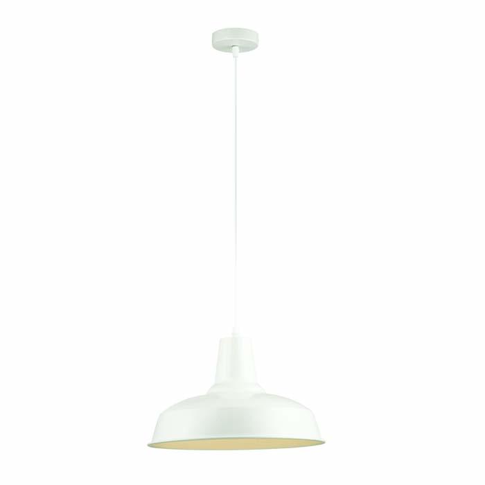 1Подвесной металлический светильник в стиле LOFT белого цвета 3362/1 Odeon