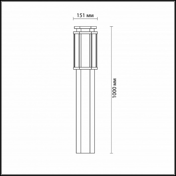 2Уличный наземный светильник 4048/1F Odeon Light