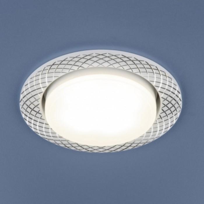 1Встраиваемый ультратонкий светильник, точечный светильник 1071 GX53 WH белый Elektrostandard