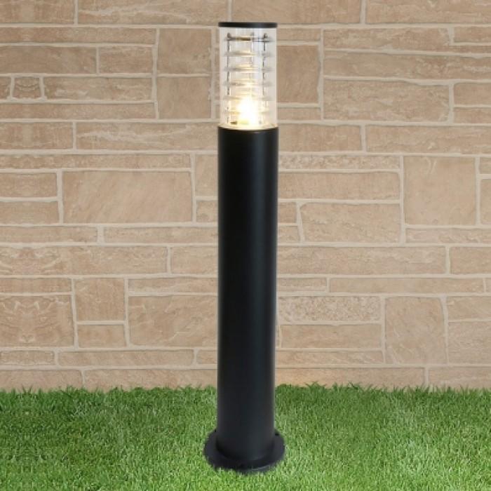 1Уличный наземный светильник-столбик 1507 TECHNO черный