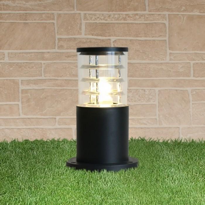 1Уличный наземный светильник-столбик 1508 TECHNO черный