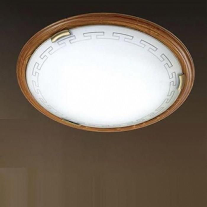 1Настенно-потолочный светильник 160/K Sonex Greca Wood круглой формы