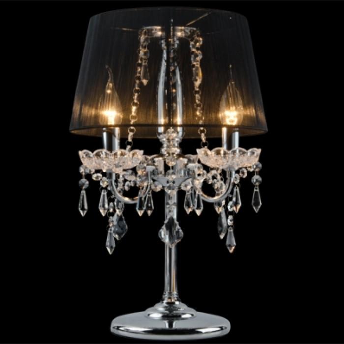 1Настольная лампа 2045/3T хром/черный Eurosvet