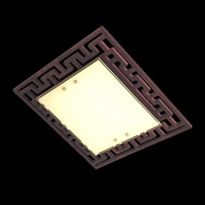 1Настенно-потолочный светильник 2870/3 хром/венге квадратной формы