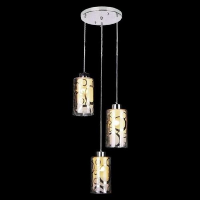1Тройной подвесной светильник 50000/3 хром Евросвет