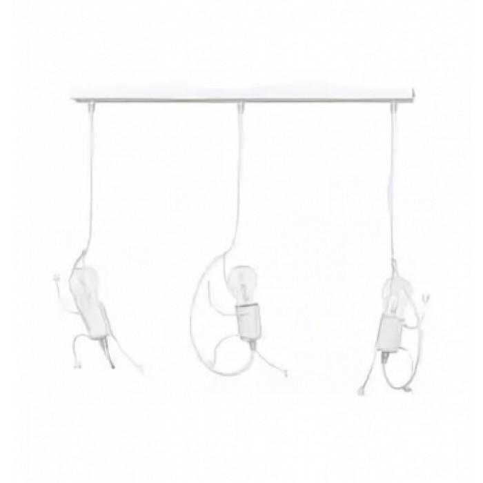 1Подвесной светильник для детской Emibig Bobi 3 White 538/3 в виде человечков