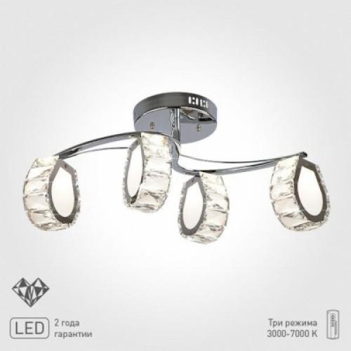 ЕВРОСВЕТ 90028/4 хром Светодиодный светильник