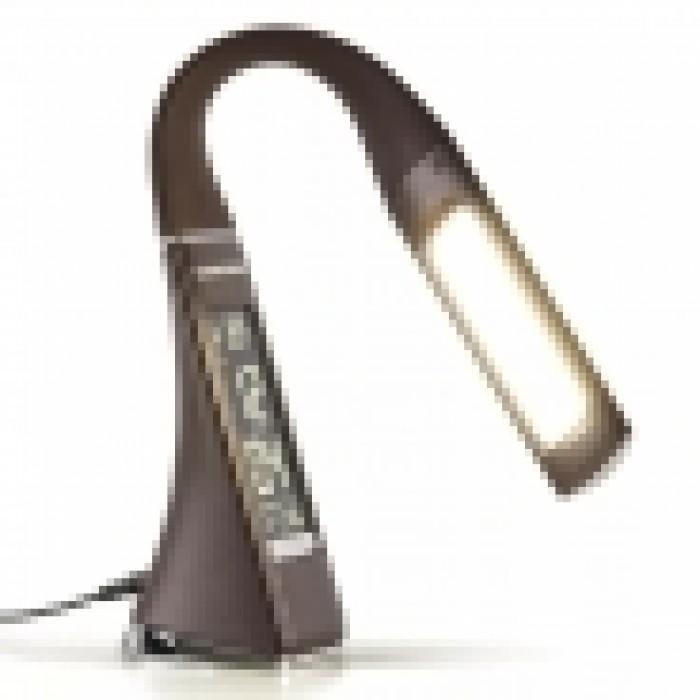 2Светодиодная настольная лампа Elara коричневого цвета