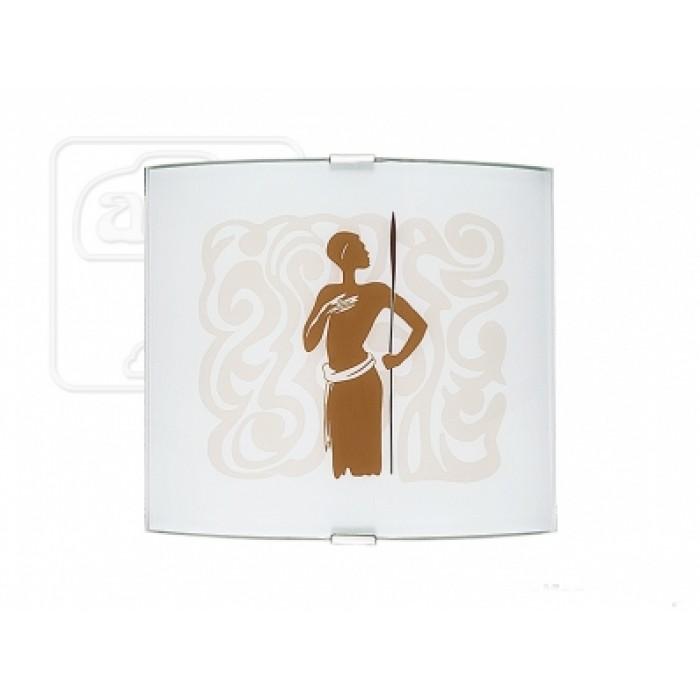 1Настенно-потолочный светильник Alfa 1055 прямоугольной формы с африканским арнаментом