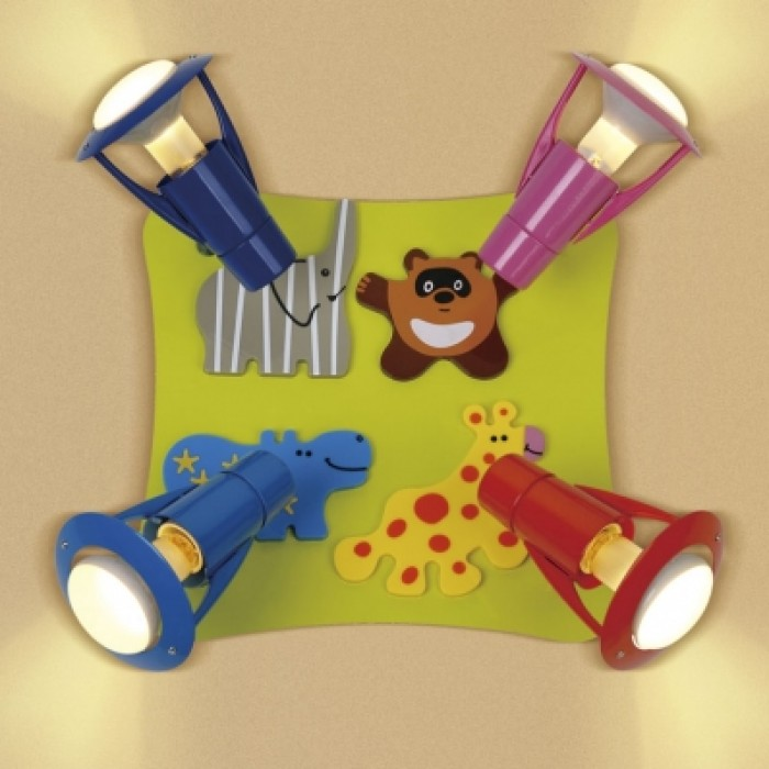 1Настенно-потолочный светильник детский CL602541 прямоугольной формы