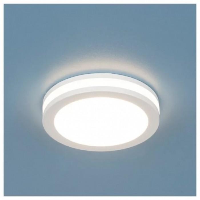 1Встраиваемый светодиодный влагозащищенный светильник белого цвета DSKR80 5W Электростандарт