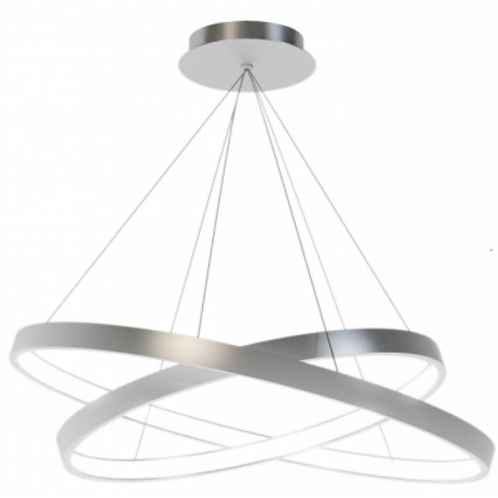 1Подвесной светодиодный светильник из двух колец диаметром 30 и 40 см TLRU2-40/50-01 Лючера