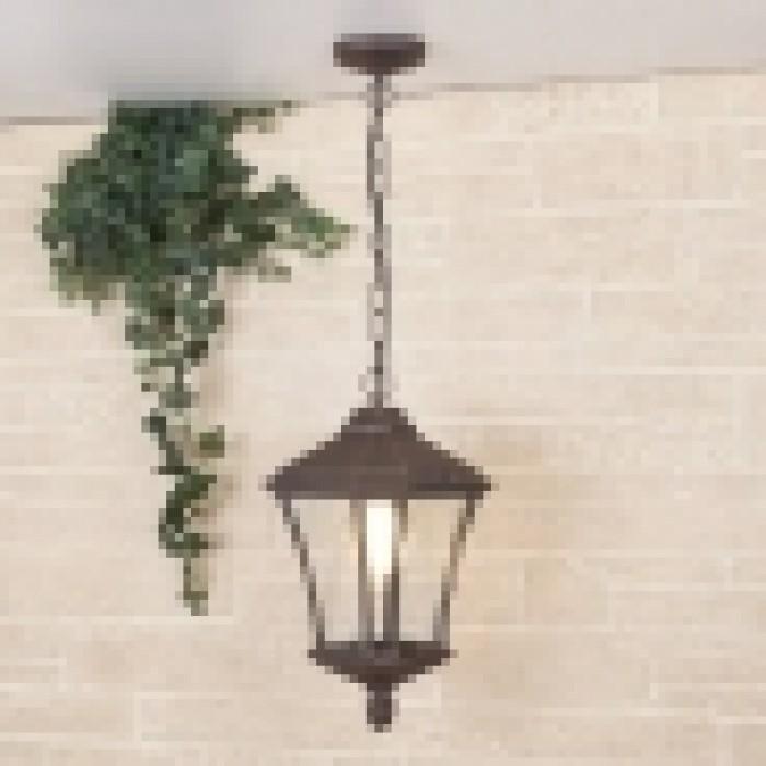 2Подвесной уличный светильник virgo h капучино Elektrostandart
