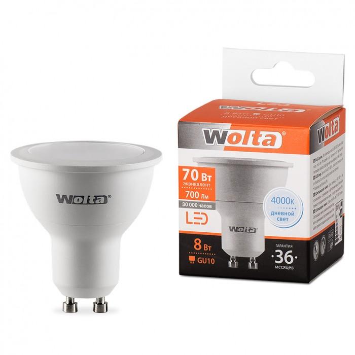 1Светодиодная лампа Wolta 25SPAR16-230-8GU10 4000K