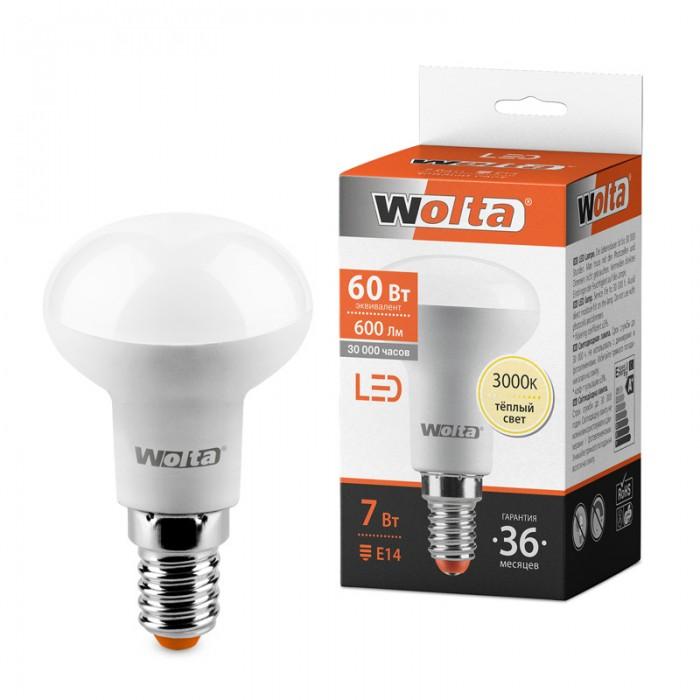 1Светодиодная лампа Wolta 25Y50R7E14 3000K