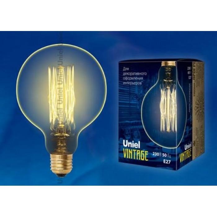 1Ретро лампа накаливания Uniel IL-V-G125 E27 60 Вт