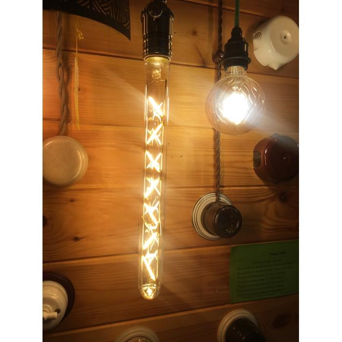 2Филаментная лампа V-TAC 7 ВТ, 700LM, T30, янтарное стекло, Е27, 2200К