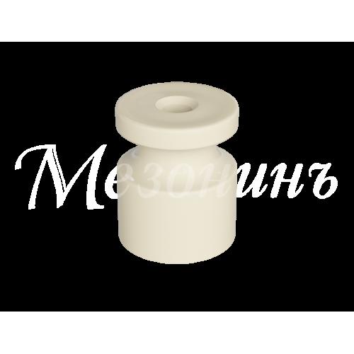 """GE30025-01 Изолятор универсальный пластиковый, цвет - белый. Серия """"Усадьба"""""""