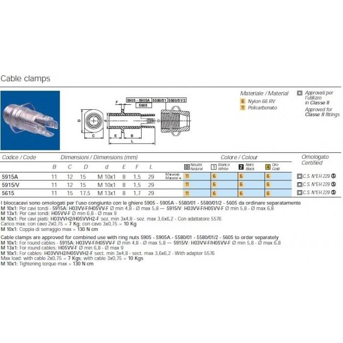 2Steab Кабельный зажим 5915/011 прозрачный комплект