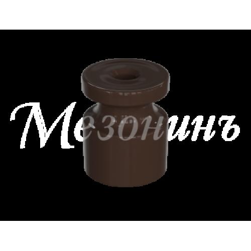 """GE30025-04 Изолятор универсальный пластиковый, цвет - коричневый. Серия """"Усадьба"""""""