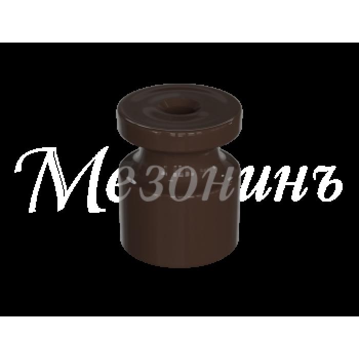 1 GE30025-04 Изолятор универсальный пластиковый коричневый