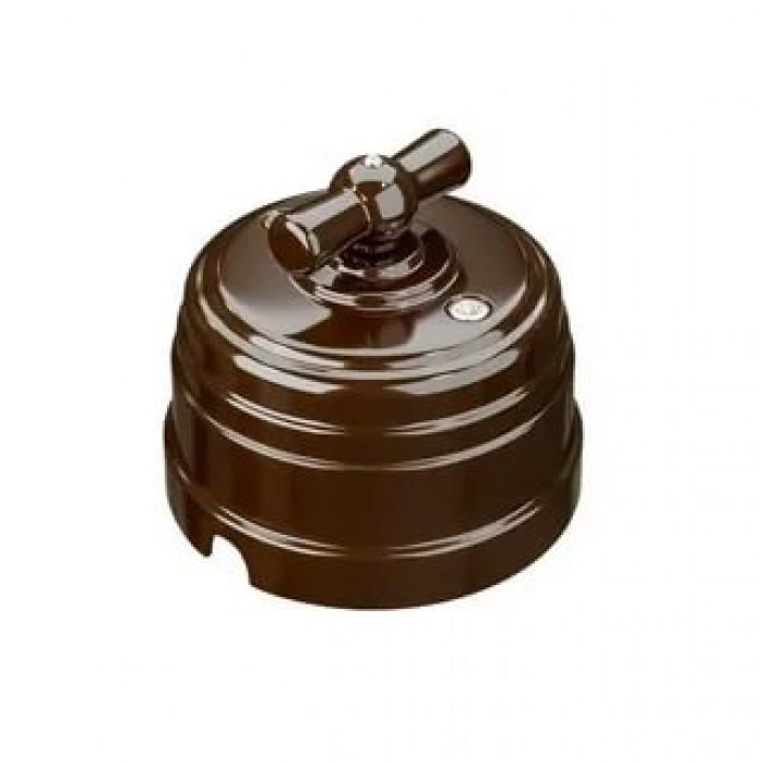 1GE30401-04 Ретро выключатель пластиковый поворотный на 2-4 положения (1-2 клавишный)