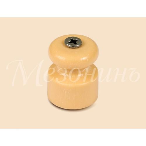 GE70017-32 Изолятор универсальный пластиковый, цвет - песочное золото.
