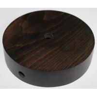Потолочная чашка круглая D=100 мм, бук, цвет венге