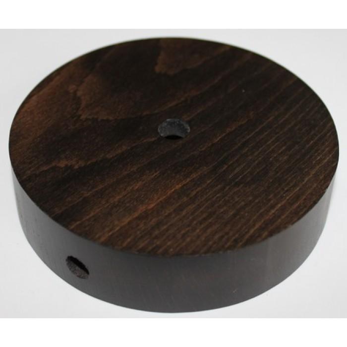 1Потолочная чашка круглая D=100 мм, бук, цвет венге
