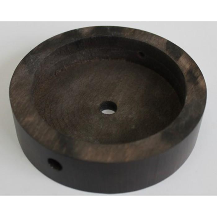 2Потолочная чашка круглая D=100 мм, бук, цвет венге