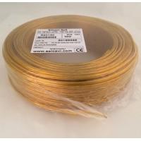 Провод плоский ПВХ 2*0,75 прозрачный золотой Salcavi(Италия)