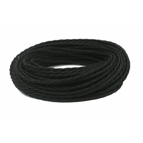 GE70141-05 Ретро провод витой ПВХ 2х1, 5, цвет - черный