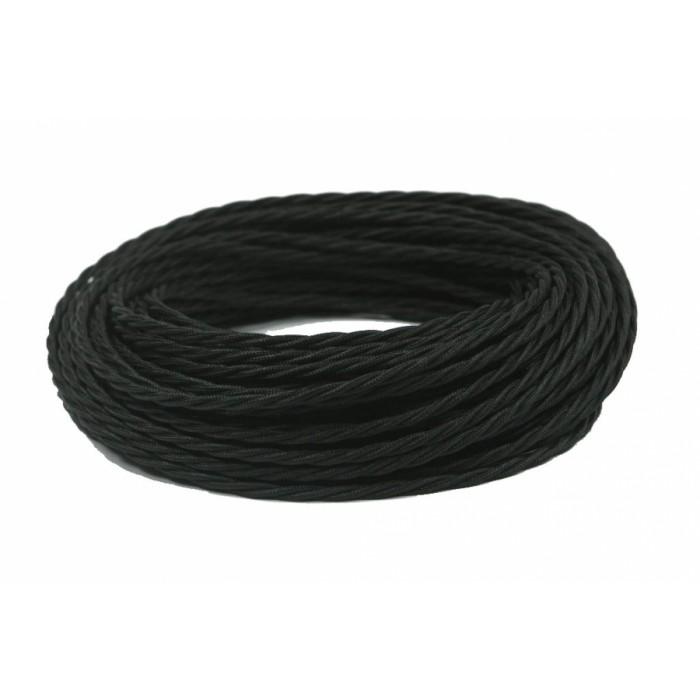 1 GE70141-05 Ретро провод витой ПВХ 2х1, 5, цвет - черный