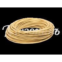 Провод круглый ПВХ 2*0,75 цвет желтый шелк МЕЗОНИНЪ