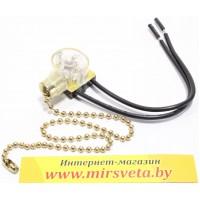 020082 Выключатель для бра и торшеров с цепочкой золотой
