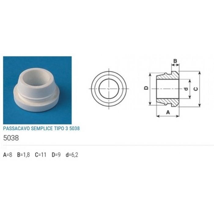 2STEAB Изолятор кромочный нейтральный полиэтилен
