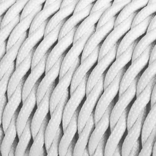 Провод ретро 2x1,5 витой цвет белый Salcavi Италия